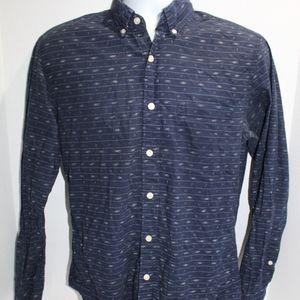 J Crew Shirt Workwear Blue with fleck motif Size S